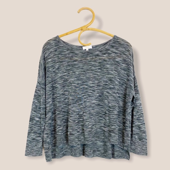 Aritzia | Wilfred | Heathered Knit Long Sleeve Top